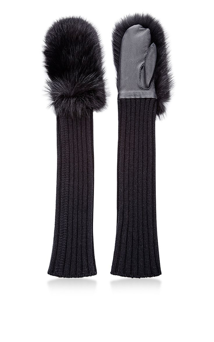 Racoon, Leather And Cashmere Gloves by MARNI Now Available on Moda Operandi
