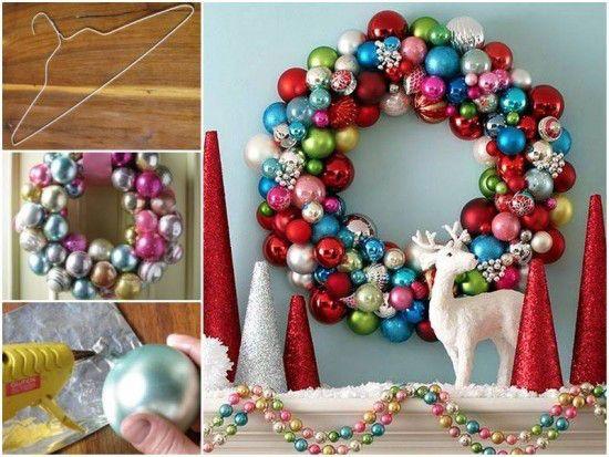 100均の材料で簡単DIY!ボールをくるくる巻きつけるだけでキラキラ輝くクリスマスリースの出来上がり♪ - Spotlight (スポットライト)