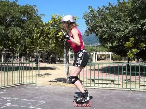 How to skate without leaning forwards and fix lower back ache. - YouTube