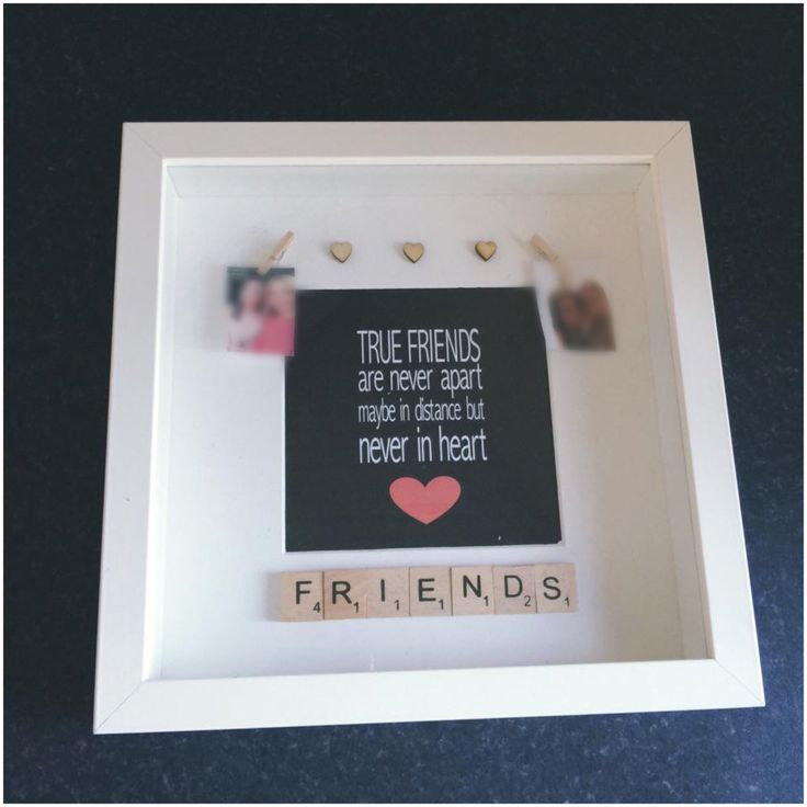 Friends Box Frame Friend Gift Best Mates Personalised