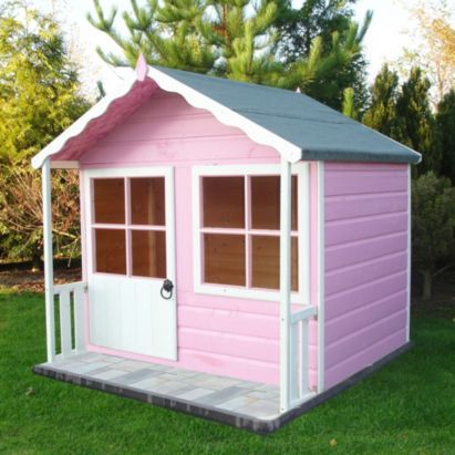 But painted blue and white  5x4 Kitty Shiplap Wooden Playhouse - Home Delivered, 5397007006490