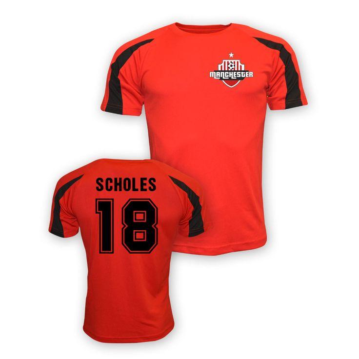 Paul Scholes Man Utd Sports Training Jersey (red) #Sport #Football #Rugby #IceHockey