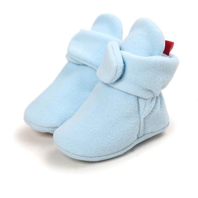 Baby Girl Boy Soft Sole Booties Cozy Boots Infant Toddler Newborn Crib Shoes