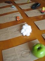 Touch:  Label lunch bags 1-10; collect 10 objects (e.g., an apple, crayon, flip-flop, etc.); place one object in each bag and staple the bag shut; have students feel and guess what is inside.