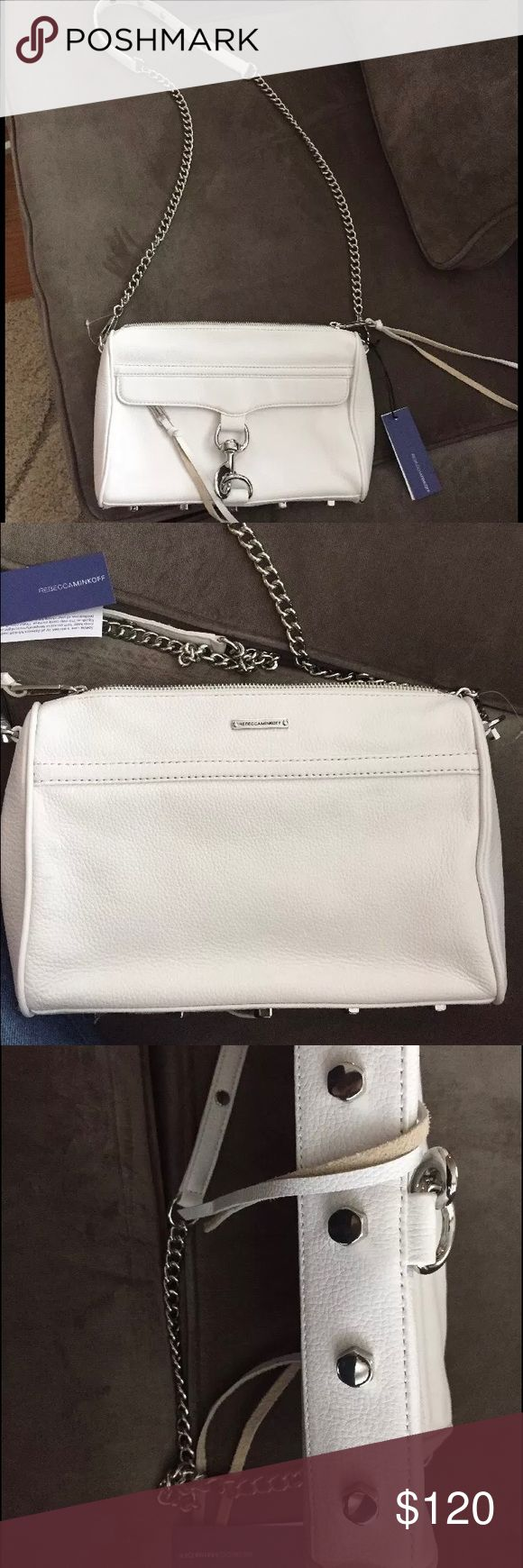 Rebecca Minkoff purse New!!! White! And perfect! I'm scared of wearing white handbags Rebecca Minkoff Bags Crossbody Bags