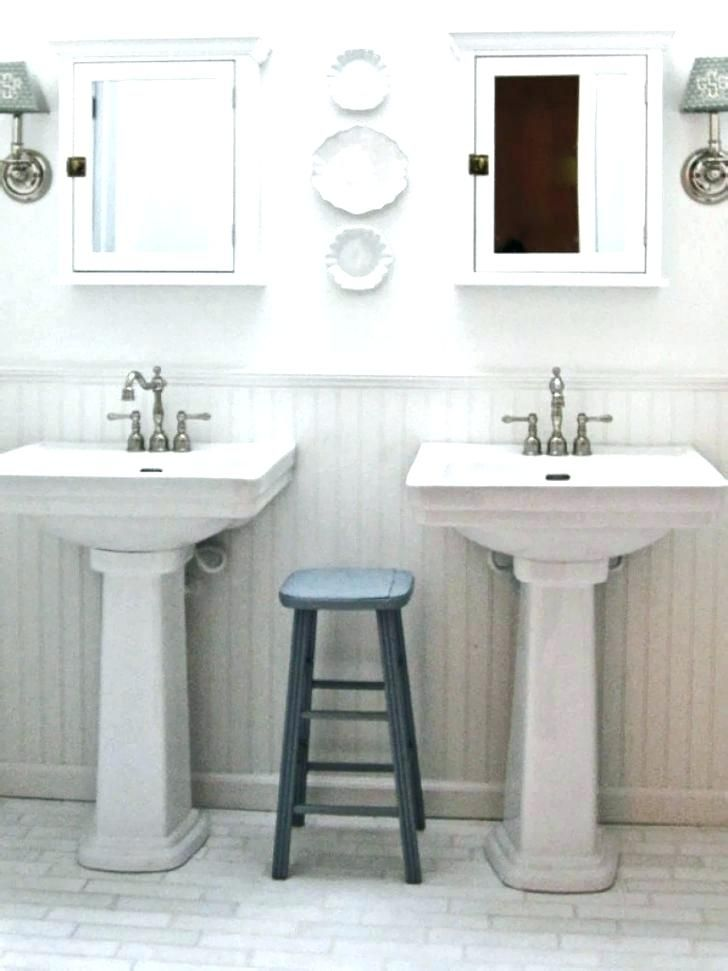 Double Pedestal Sink Mirror Ideas Google Search With Images