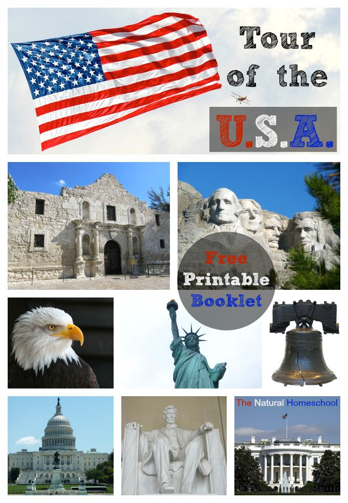 Tour of the U.S.A.: Lessons, Activities, Books & Free Printables
