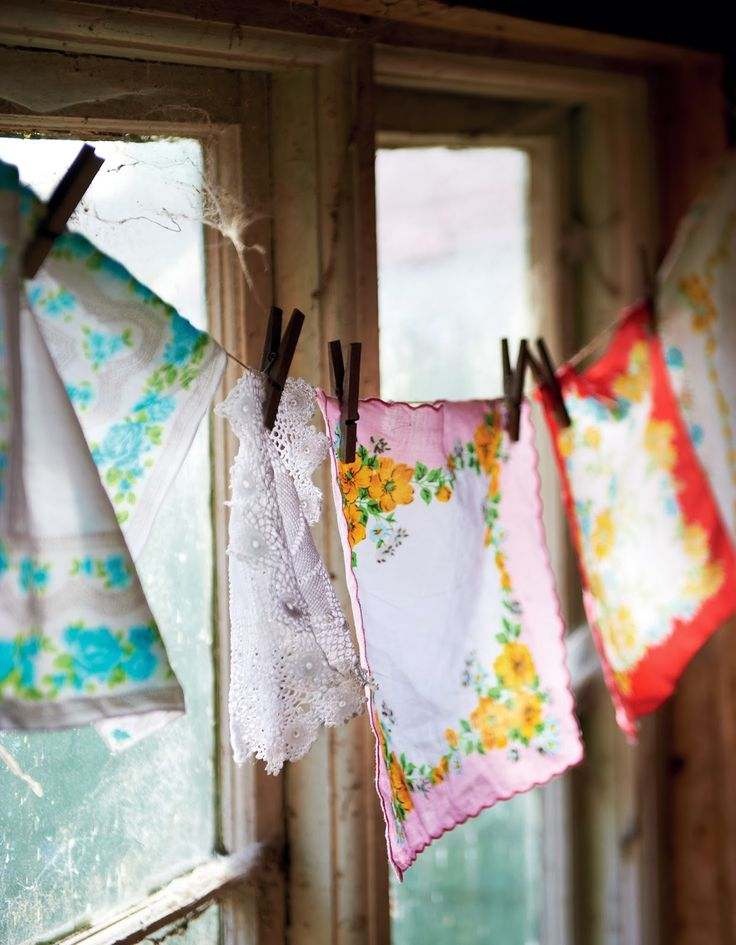 TILDeath..vintage hankies garland by Selina Lake: Selina Lake Outdoor Living * First Preview