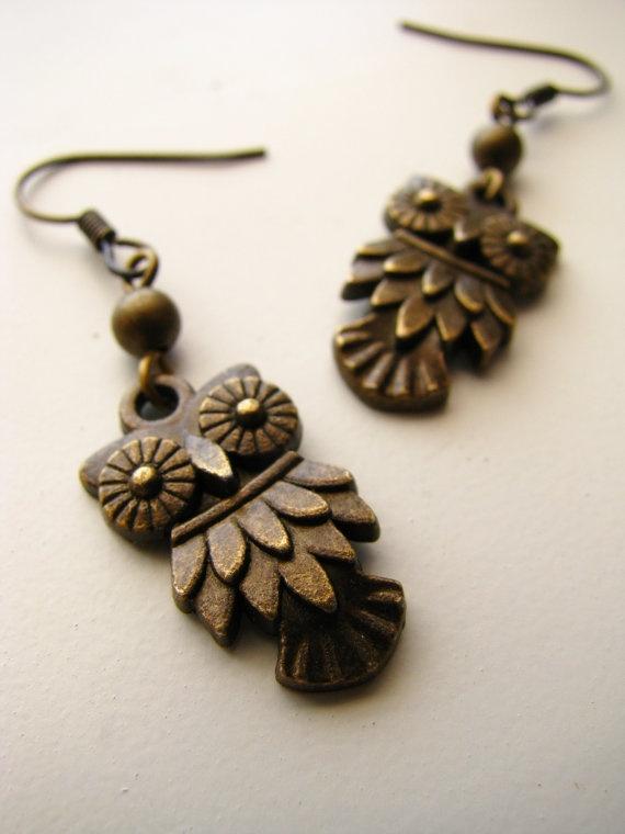 Sweet little hoot owl earrings!