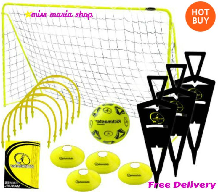 Football Training Equipment Kit Practice Kids Sports Hoops Cones Goal Set Ball