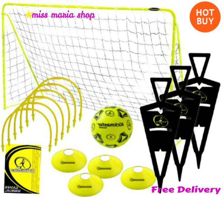 Football Training Equipment Kit Practice Kids Sports Hoops Cones Goal Set Ball