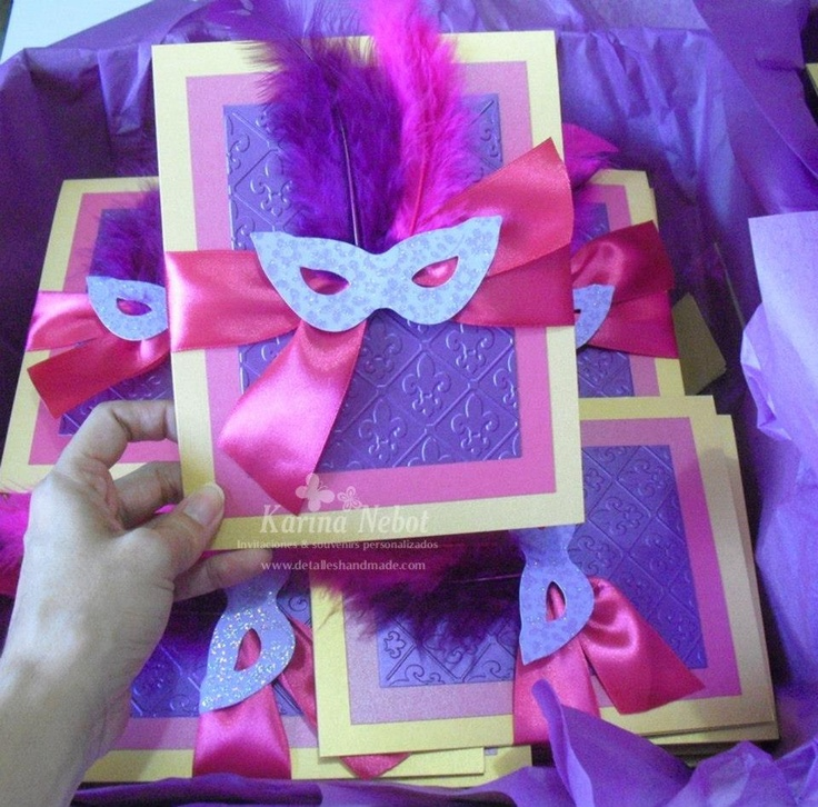 Masquerade Invitations | In love with Craft | Pinterest ...