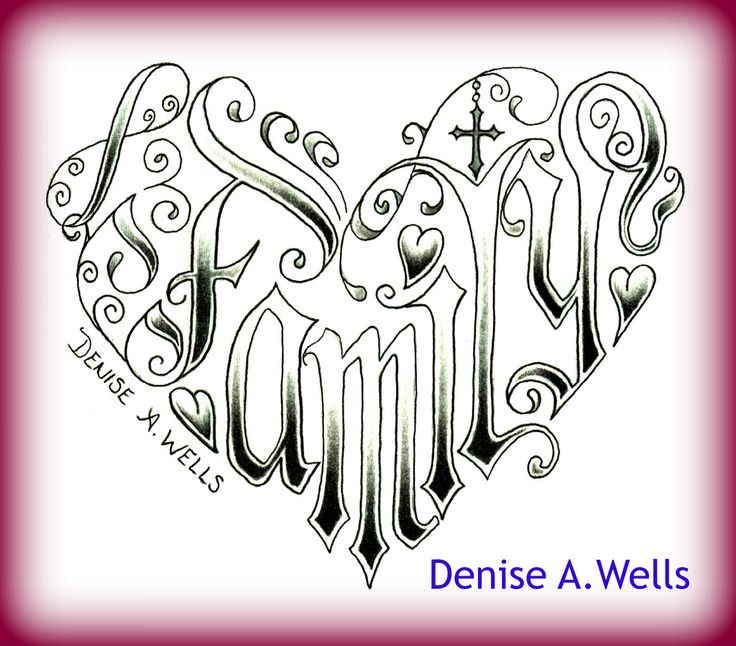 27 best The Word Family Tattoo Designs images on Pinterest ... The Word Family Tattoo Pics