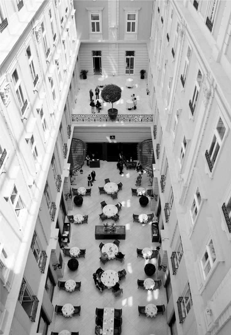 The breathtaking Atrium Restaurant. #BudapestHotel