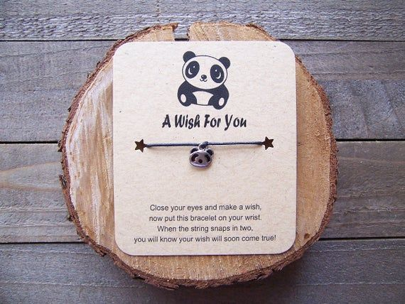 Friendship Bracelet Panda Jewelry Panda Party Favors Panda Wish Bracelet Panda Charm Bracelet Panda String Bracelet Panda Lover Gift