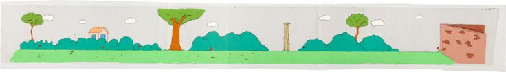 Animation Art:Production Drawing, The Tracey Ullman Show Simpsons Pan Production Background(Fox, 1987).... Image #1