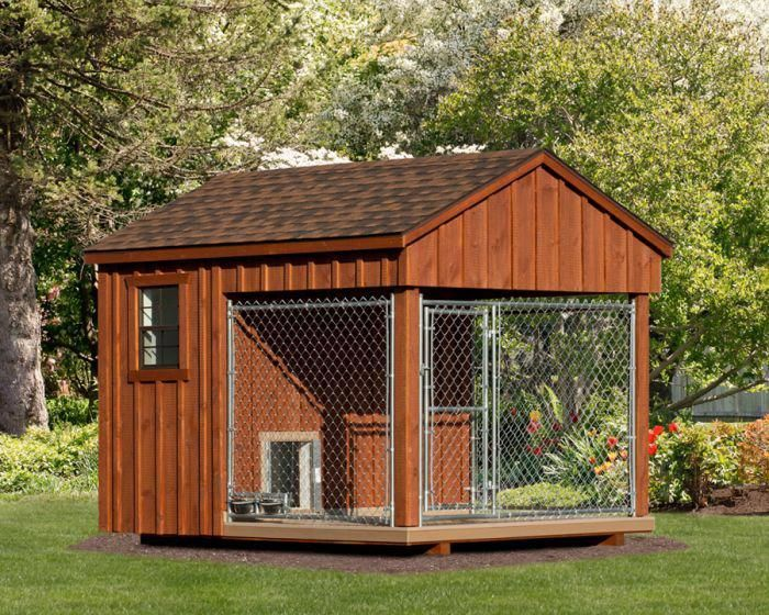 Fully Assembled 8 X 10 Ft Amish 1 Run Dog Kennel Dog House For