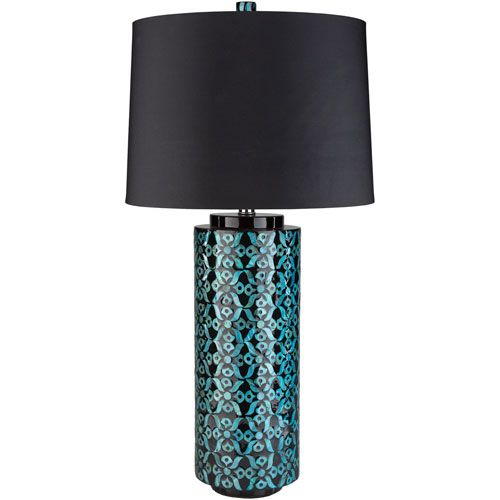 greenway blue table lamp