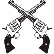 Crossed Six Shooter Pictures Guns