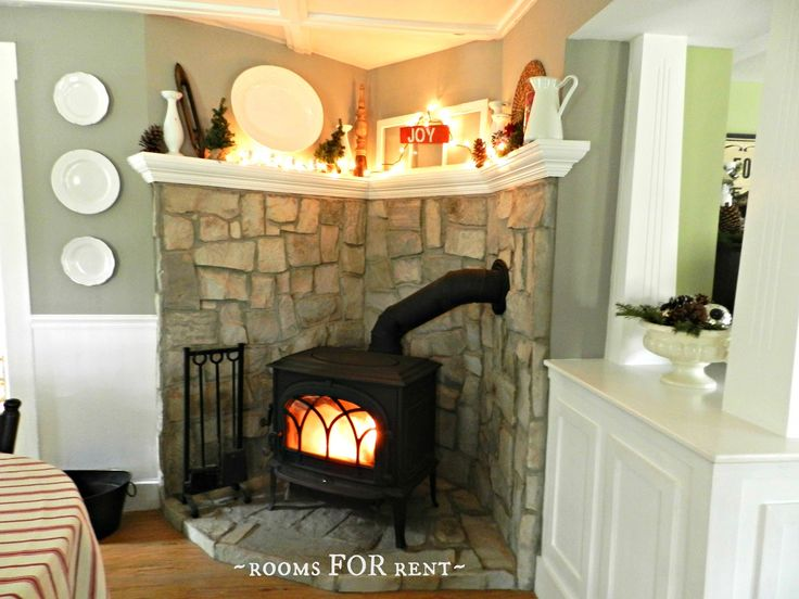 I like this wood stove arrangement - and wood stoves are more eco and efficient than open fire places