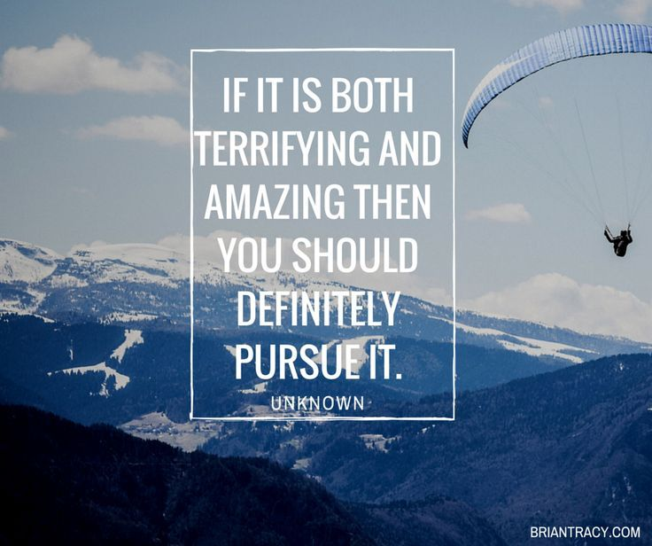 If it is both terrifying and amazing then you should definitely pursue it.