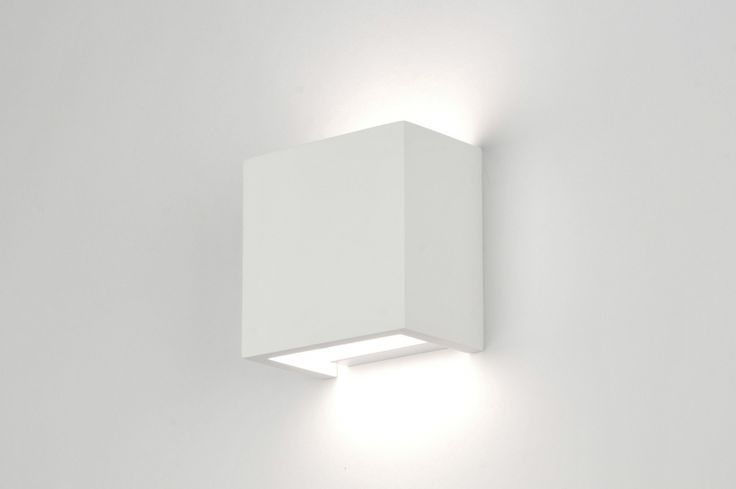 Wandlamp 71354: Modern, Landelijk Rustiek, Wit, Mat