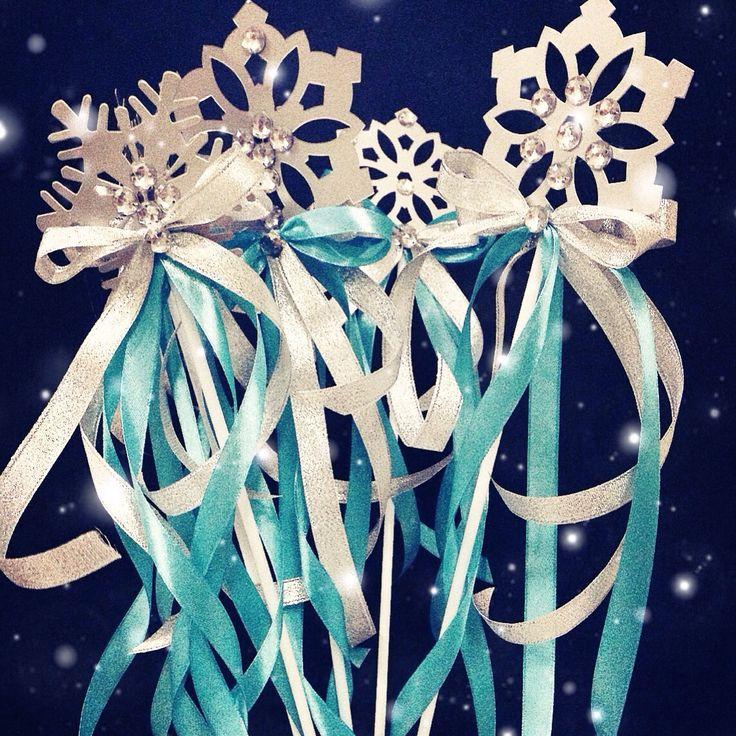 Frozen magic wand for frozen Birthday party. by: glitzcreativedubai