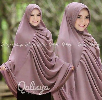 Qalysia Rafa Instant Hijab Khimar Amira One Piece Slip On Hijab Islam Scarf