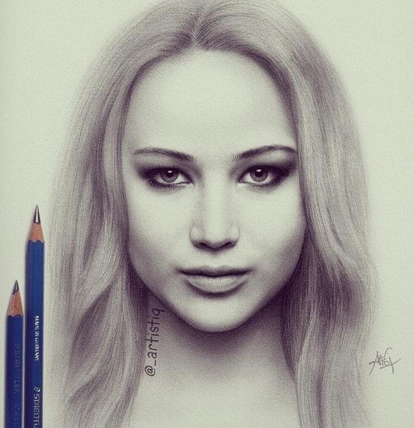 Amazing drawing of Jennifer Lawrence!!