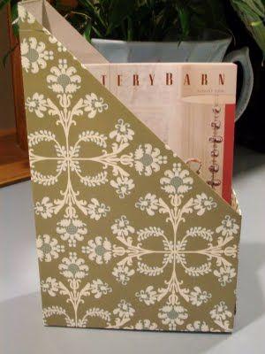 @Gloria PowellCereal Box Magazine Holder!!!!: Idea, Craft, Recycled Cereal, Cereal Boxes, Magazines, Magazine Holders