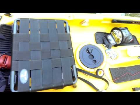 Quick elevated seat diy for kayak - YouTube