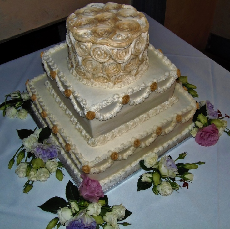 Buttercream Wedding Cakes And Desserts: 101 Best Images About Wedding Cakes I Decorated On Pinterest