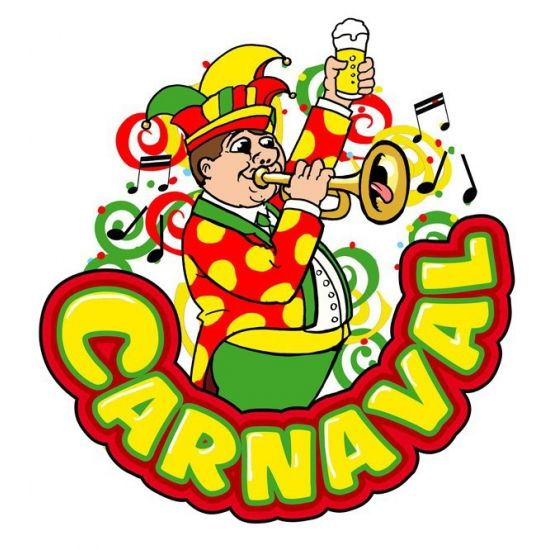 Carnaval decoratiebord muzikant met trompet. Dit Carnaval decoratiebord met muzikant met trompet heeft een formaat van ongeveer 35 x 40 cm. Materiaal: Plastic.