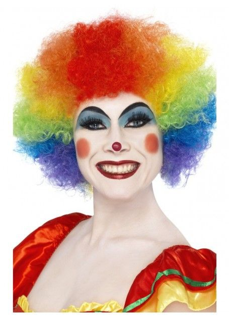 Let's Party With Balloons - Rainbow Crazy Clown Wig, $25.00 (http://www.letspartywithballoons.com.au/rainbow-crazy-clown-wig/)