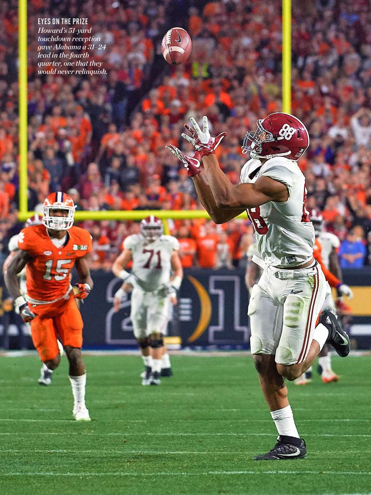 O.J. Howard's 51-yard TD reception in the 4th Qtr. I was there! Roll Tide!