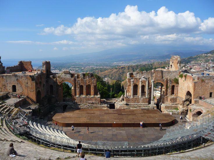 Visiting the Ancient Greek Theatre of Taormina, Sicily