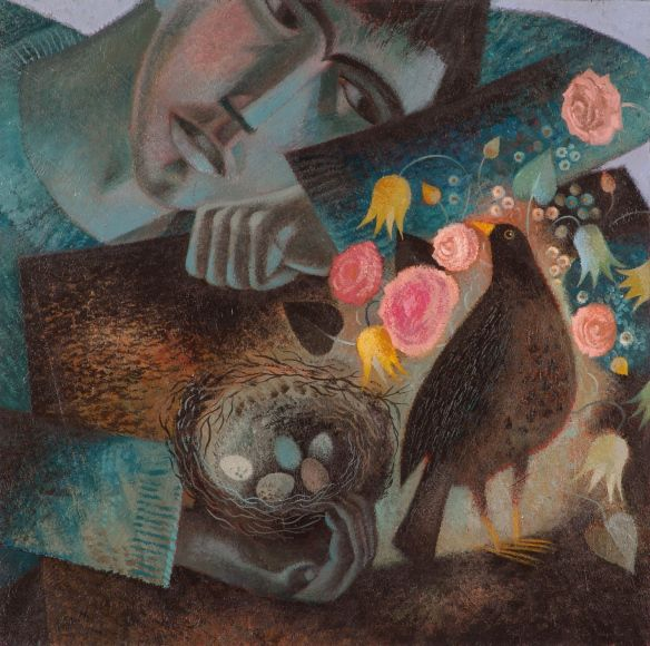 Kevin and the Blackbird | Clive Hicks-Jenkins' Artlog: