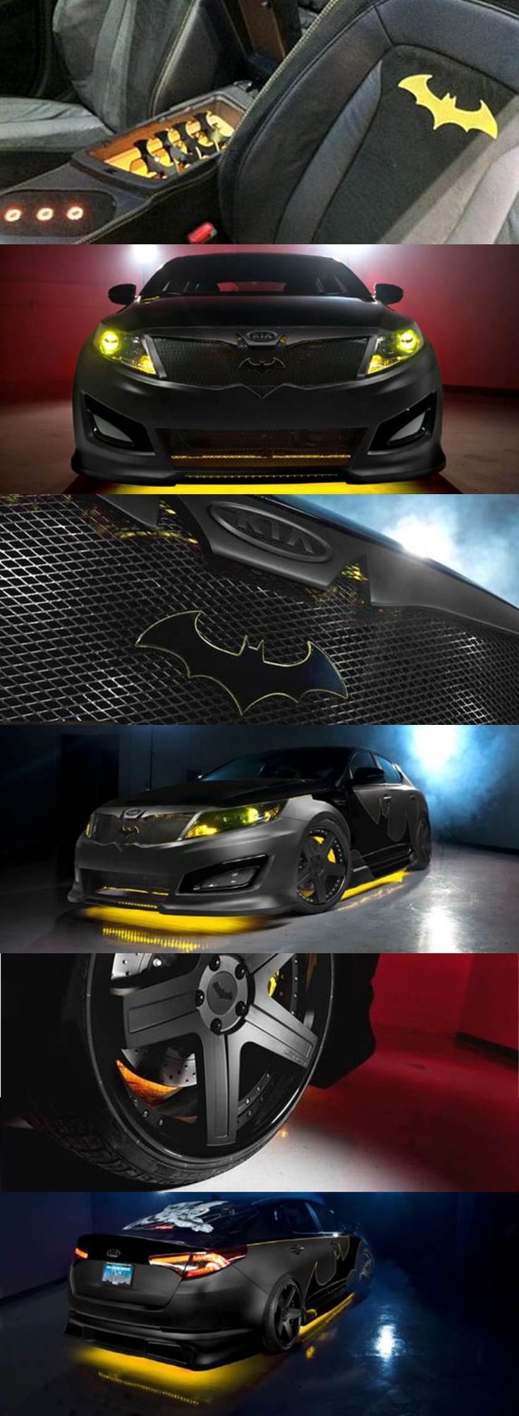 Batman-inspired Kia Optima ready to fight hunger in Africa. This is a badass looking car