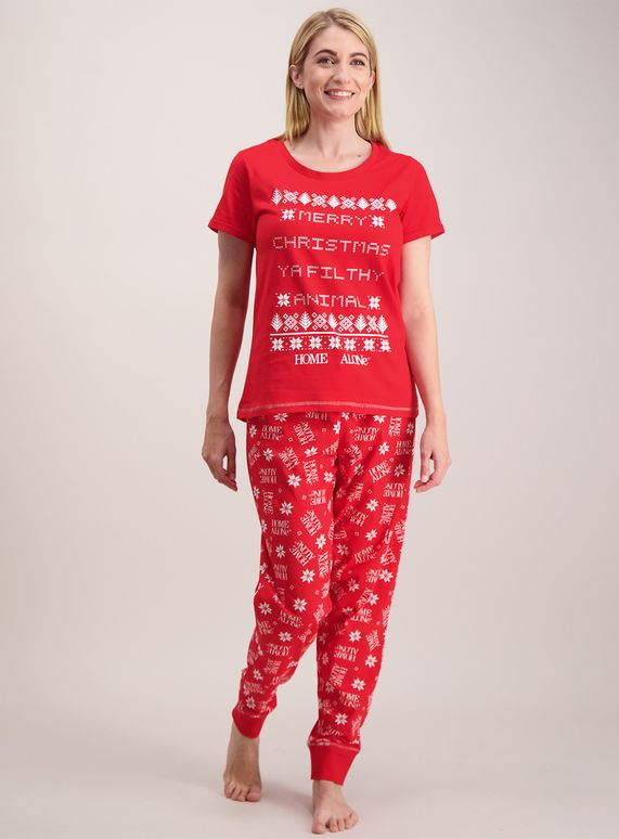 5beecc388 Online Exclusive Home Alone Red Pyjamas from Tu at Sainsbury s ! Your Online  Shop for Women s Nightwear