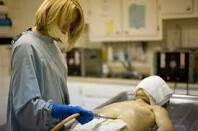 When the embalming process is finished, you puncture the abdomen with an aspirator to exhume gases and leftover fluids to relieve bloat. You use a little plastic button 2 then seal up the puncture hole and twist it until its in tight.