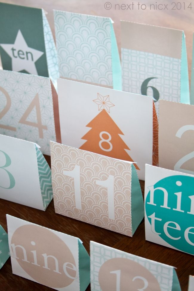 Not made up your Advent Calendar yet? Here's a quick and cute one, free to download and print!