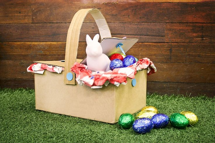how to make an easter hat with cardboard