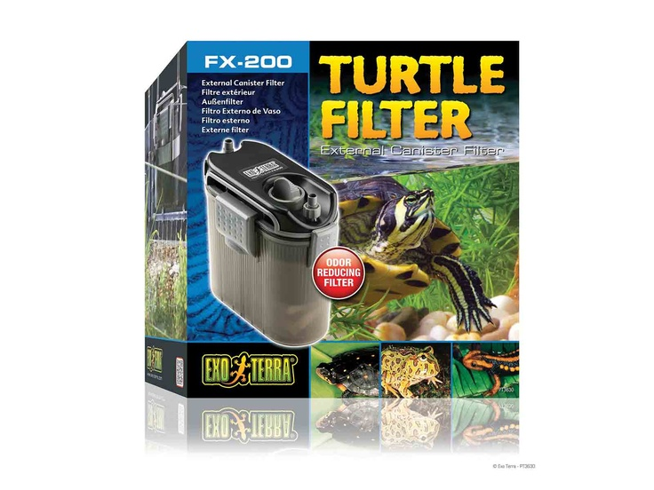 The Exo Terra #Turtle Filter FX-200 is designed for the special filtration needs of turtle terrariums,Hagen's Exo Terra Turtle Filter FX-200 provides maximum ammonia absorption for odor elimination and crystal clear water. It also has a spray bar system that provides water aeration for better oxygenation and circulation. #reptile