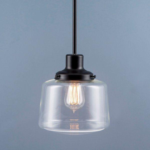 Aaru 1 Light Schoolhouse Pendant Reviews Joss Main Vintage Pendant Lighting Black Pendant Light Kitchen Schoolhouse Pendant
