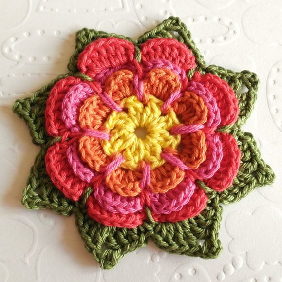 Free Crochet Pattern Japanese Flower : 1000+ images about Crochet Flowers and leaves projects ...