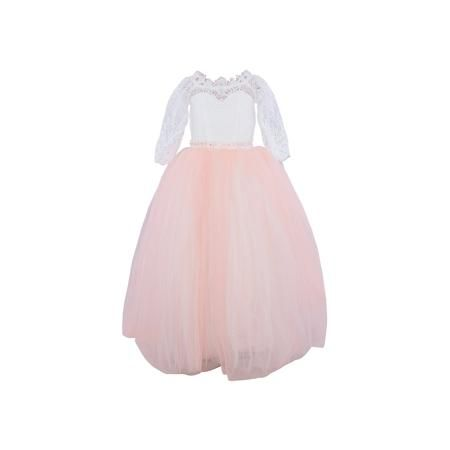 Престиж Платье нарядное Престиж  — 4669р. ---------------------- Платье для девочки Престиж.  Характеристики:  • пышный силуэт • корсет • рукав три четверти • цвет: персиковый • состав: 100% полиэстер  Платье для девочки Престиж имеет пышный силуэт и рукав три четверти. Прекрасное сочетание светлого полупрозрачного лифа и пышной юбки нежного цвета поможет создать элегантный образ маленькой леди.  Платье регулируется шнуровкой сзади, от талии до верха спинки. Шнуровка в комплекте. Платье…