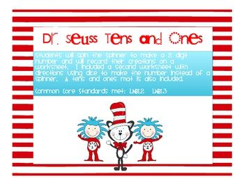 free place value game Dr. Seuss NumbersFree Places, 2Nd Grade