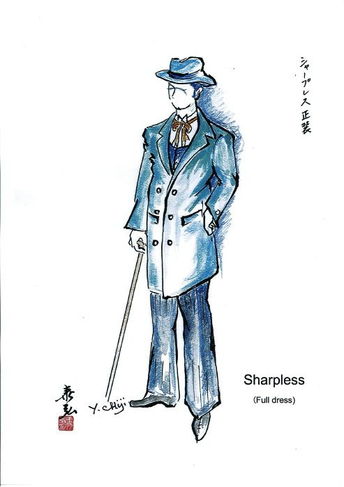 Costume sketch for Sharpless (2)