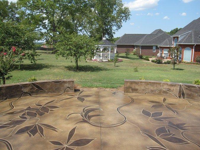 46 best patio ideas images on pinterest   backyard ideas, patio ... - Stained Concrete Patio Designs