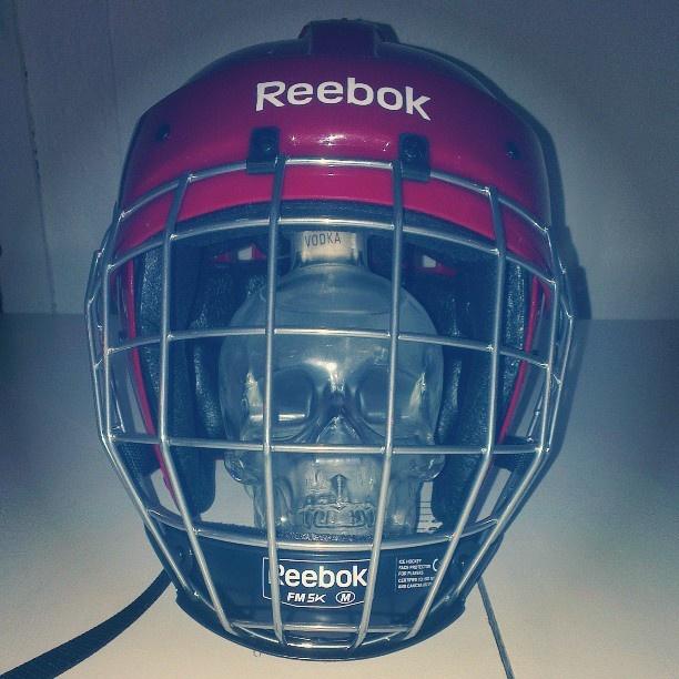 Protect your skull!  #StockholmWineLab #HockeyVM #CrystalHead #chrystalheadvodka